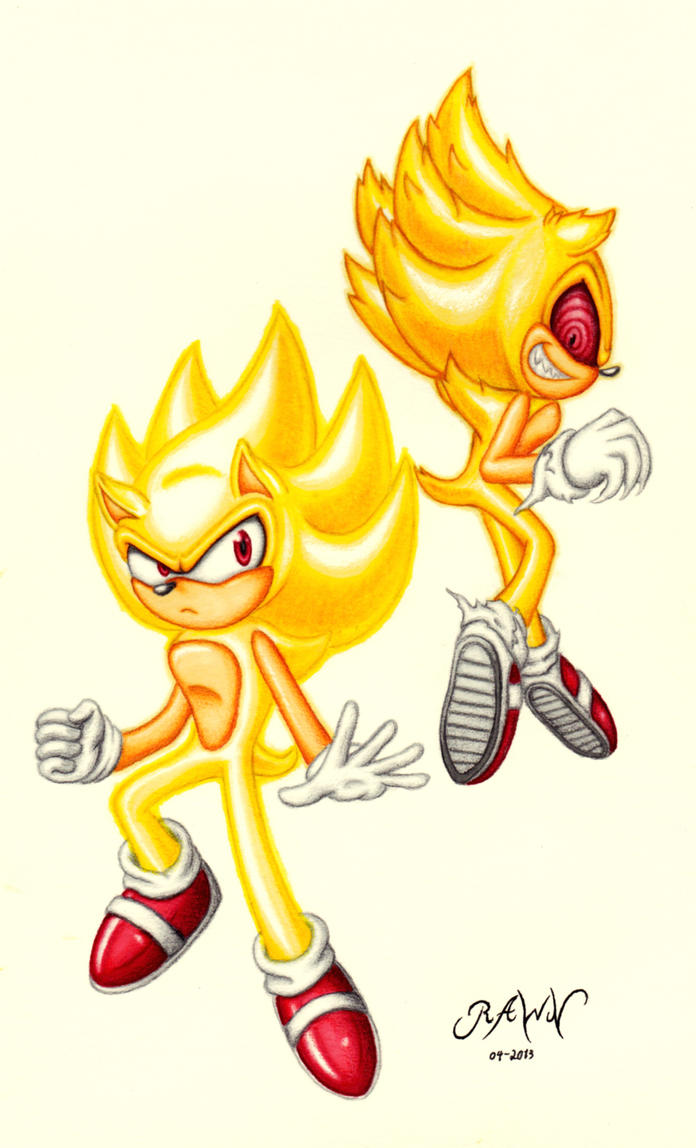 Fleetway and Super Sonic: Two Sides of a Hero by RAWN89