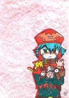 Azure Kite KITTIES by miacachan
