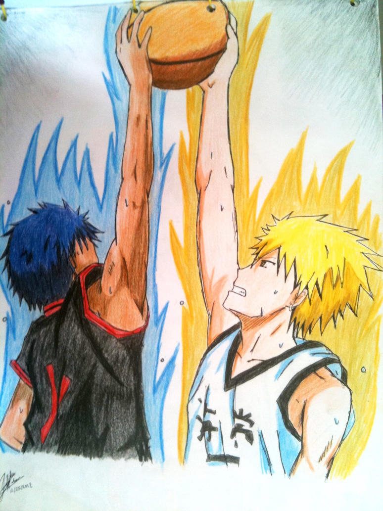 kise vs aomine by miacachan on deviantart