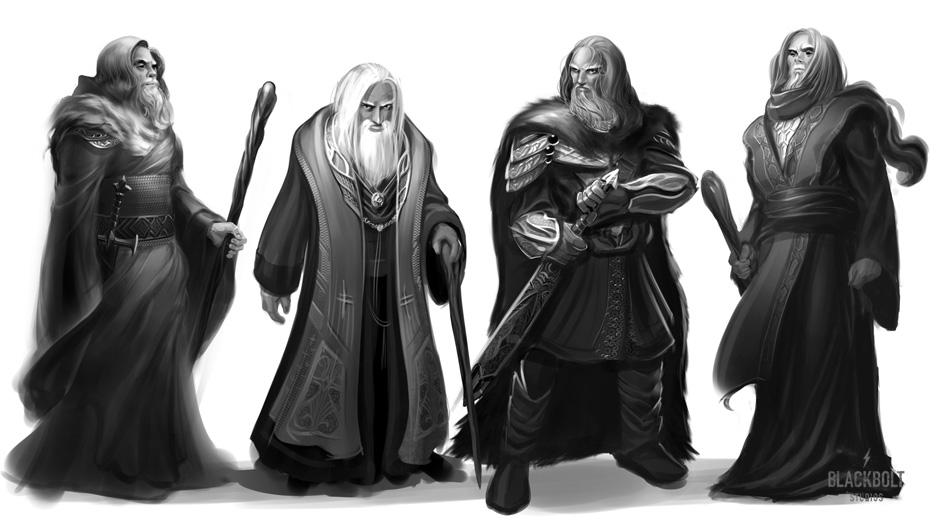lotr blue wizards sketch by blackboltstudios on deviantart
