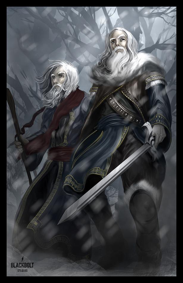 lotr blue wizards final by blackboltstudios on deviantart