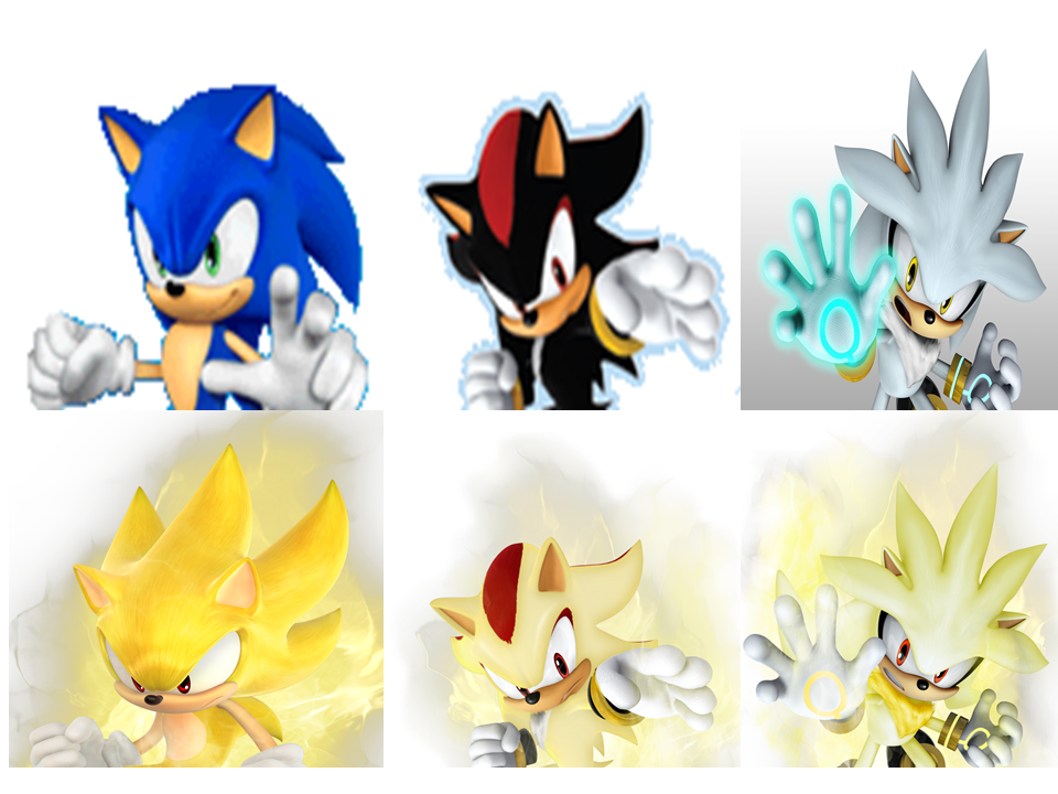 Sonic Shadow Silver Super form by 9029561 on DeviantArt