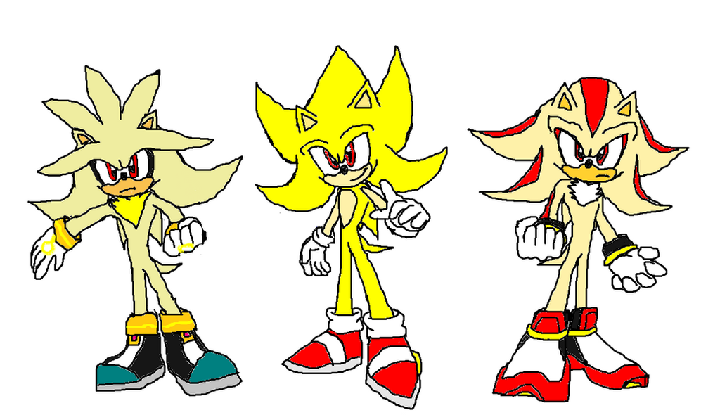 Super Sonic Super Shadow And Super Silver By 9029561 On DeviantArt