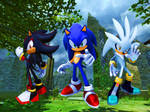 Sonic, Shadow, and Silver. 2006