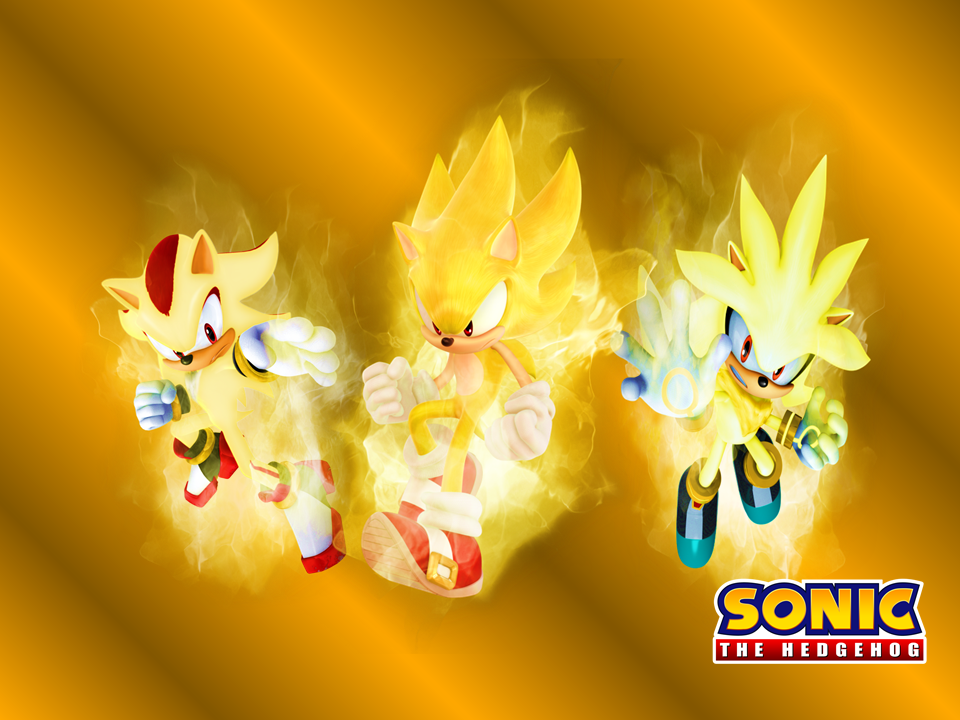 Sonic the Hedgehog Full HD Wallpaper and Background Image ... |Super Sonic And Super Shadow And Super Silver Wallpaper