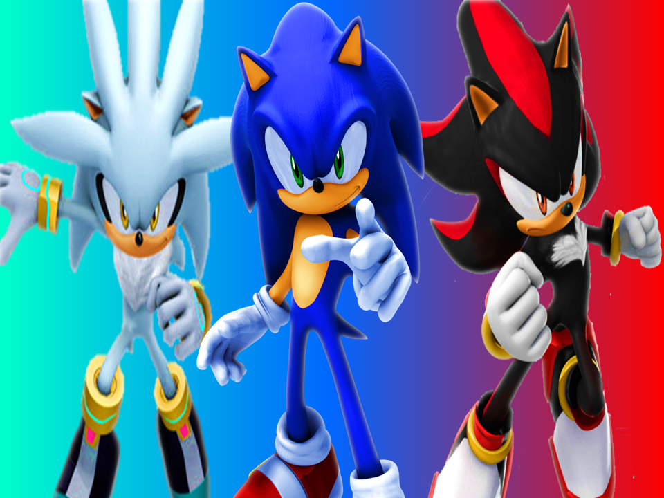 Image gallery for : sonic silver and shadow wallpaper