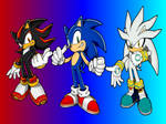 Sonic, Shadow and Silver New Wallpaper.