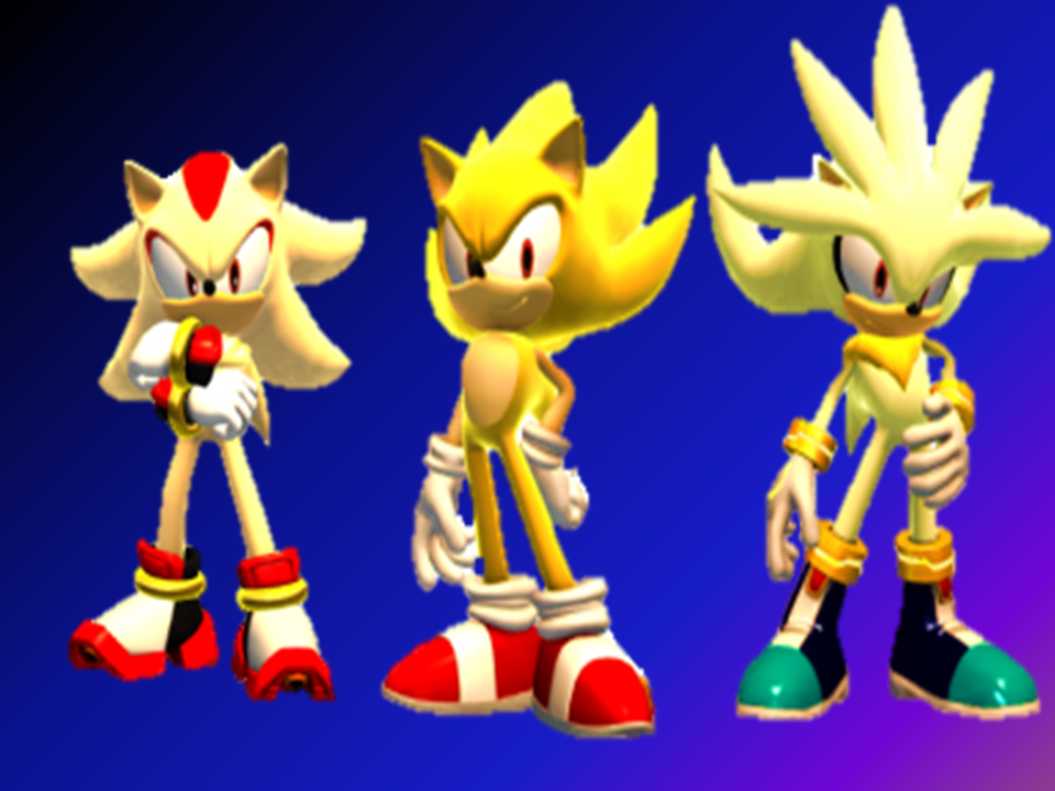 Super Shadow Wallpaper - WallpaperSafari |Super Sonic And Super Shadow And Super Silver Wallpaper
