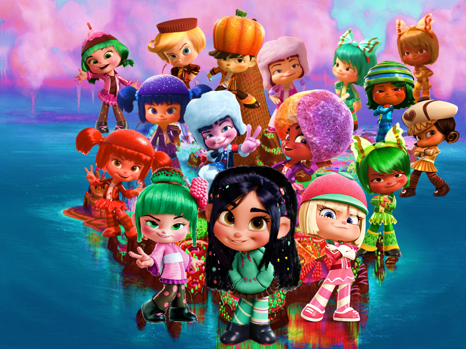 Vanellope and the Sugar Rush Gang Wallpaper by 9029561 on DeviantArt