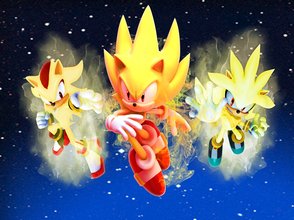 Sonic The Hedgehog Wallpaper 26900 Three Super Hedgehogs In World 3 By 9029561