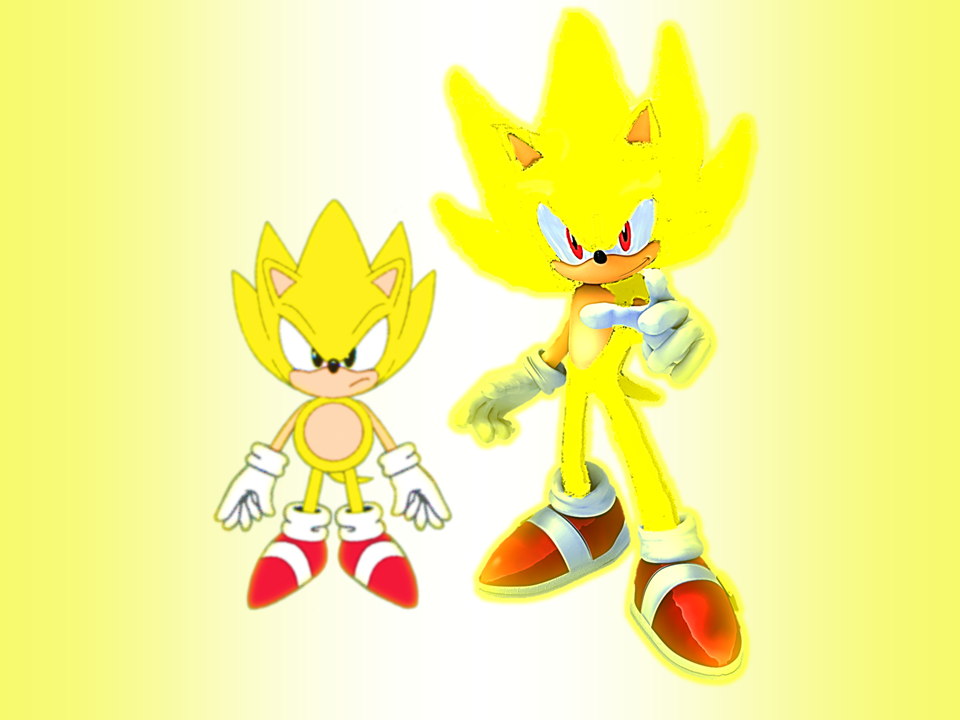 Classic And Modern Super Sonic Wallpaper By 9029561