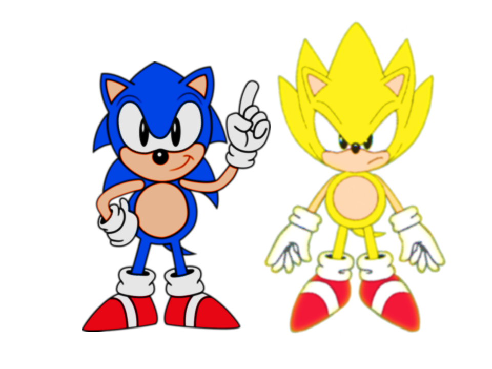 speed shading classic super sonic - Classic Super Sonic Coloring Pages