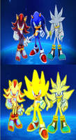 Sonic, Shadow and Silver Final Wallpaper.