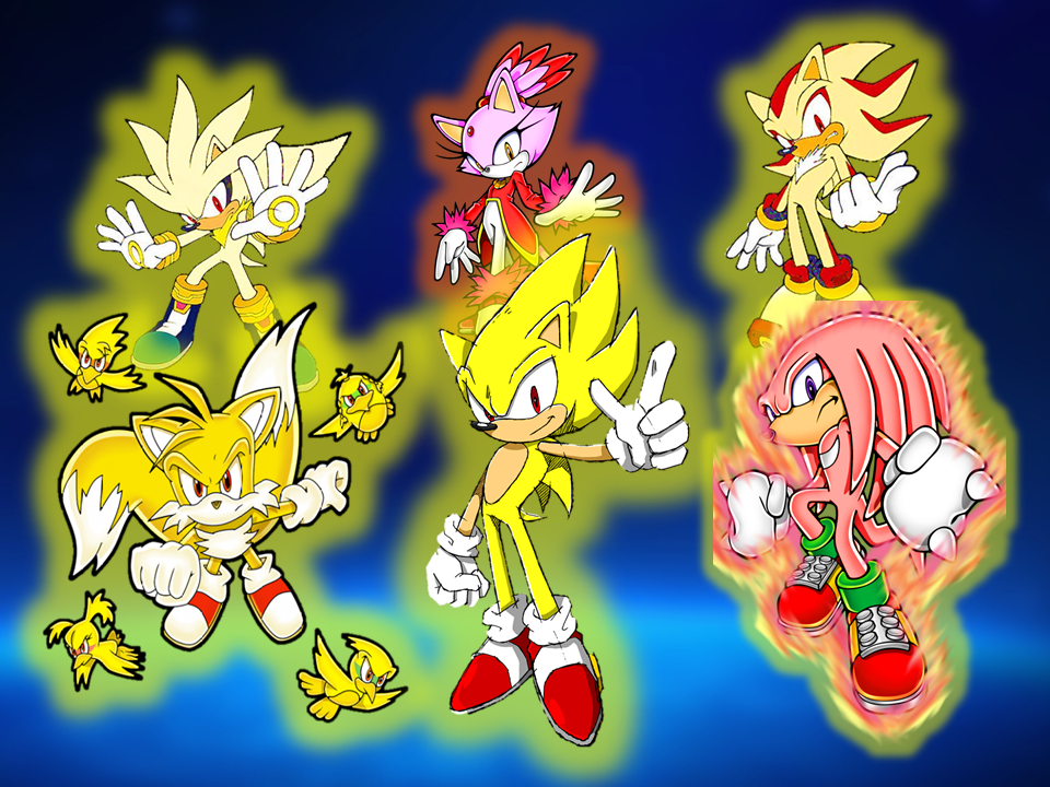 Super Sonic And His Friends And Rivals By 9029561 On Deviantart
