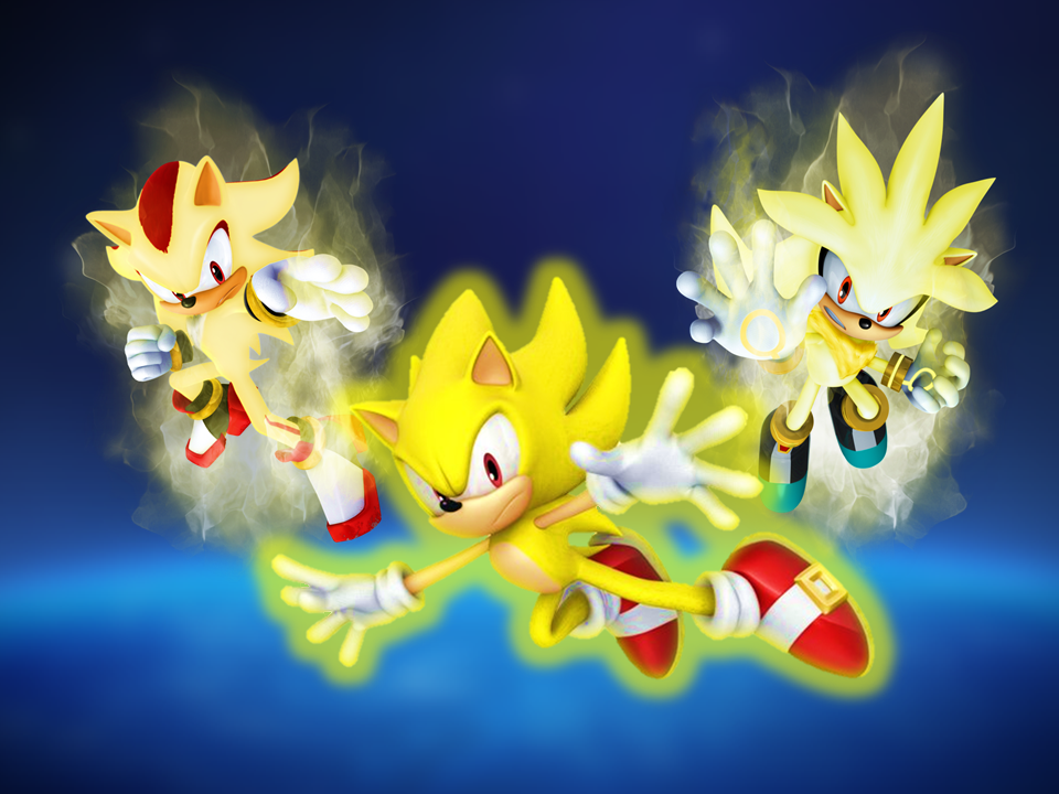 Super sonic shadow and silver earth blue sky by 9029561 - Sonic et shadow ...