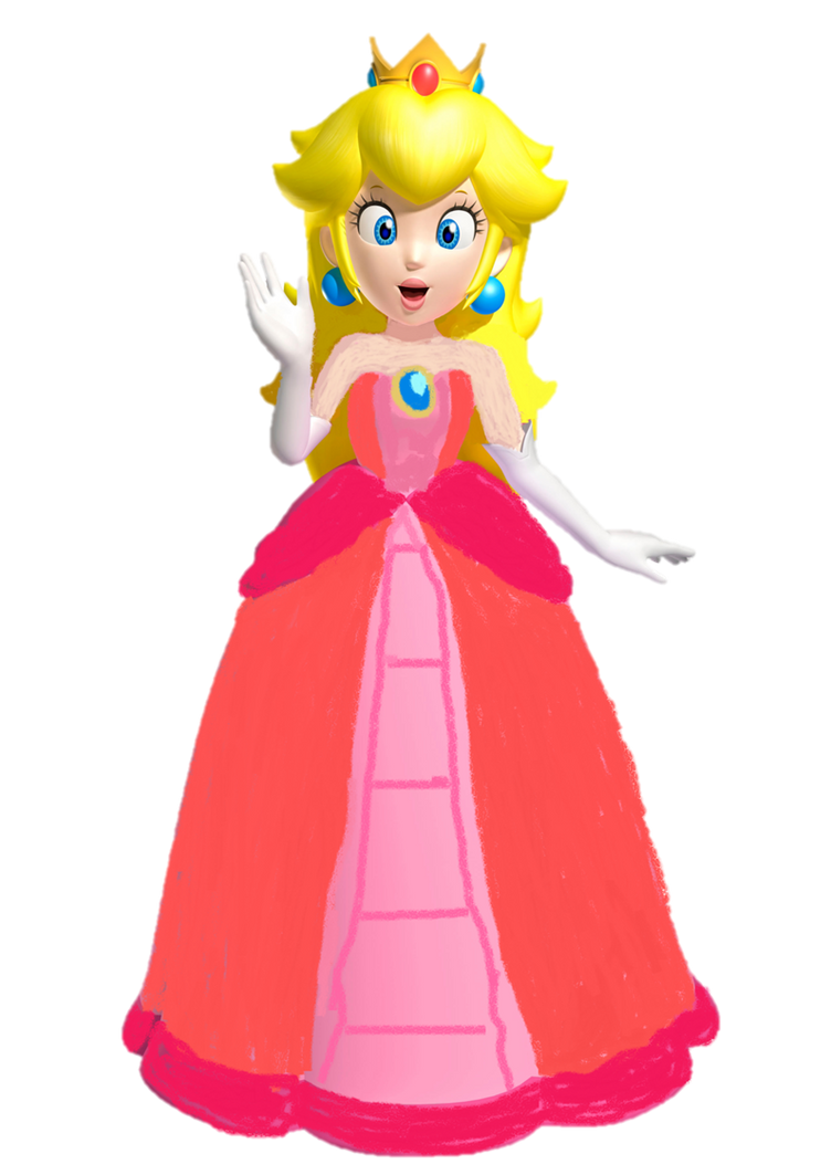 Princess Peach Beautiful Dress By 9029561 On DeviantArt