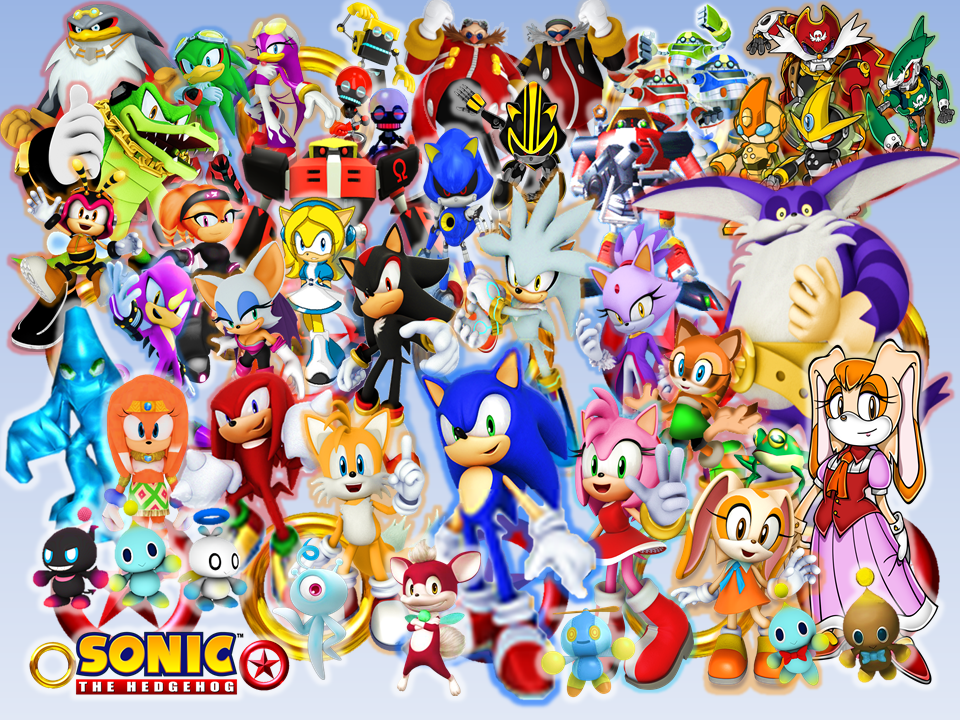 Sonic And His New Modern Friends Rivals And Boss By