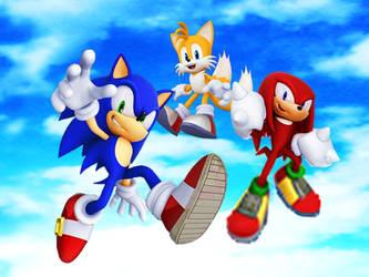 Team Sonic Heroes Final Sky Wallpaper