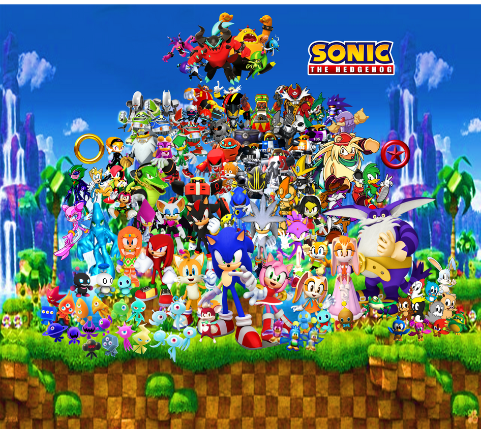 Sonic And His Friends, Rivals, And Enemies Final3 By