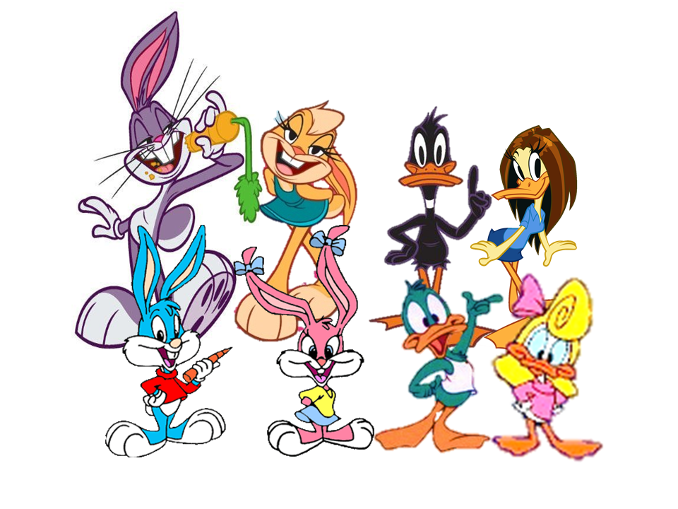 Four Rabbits And Ducks Tiny Toon And Looney Tunes By