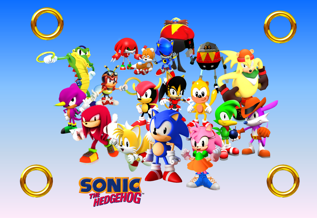 Classic Sonic And His Gang Wallpaper By 9029561