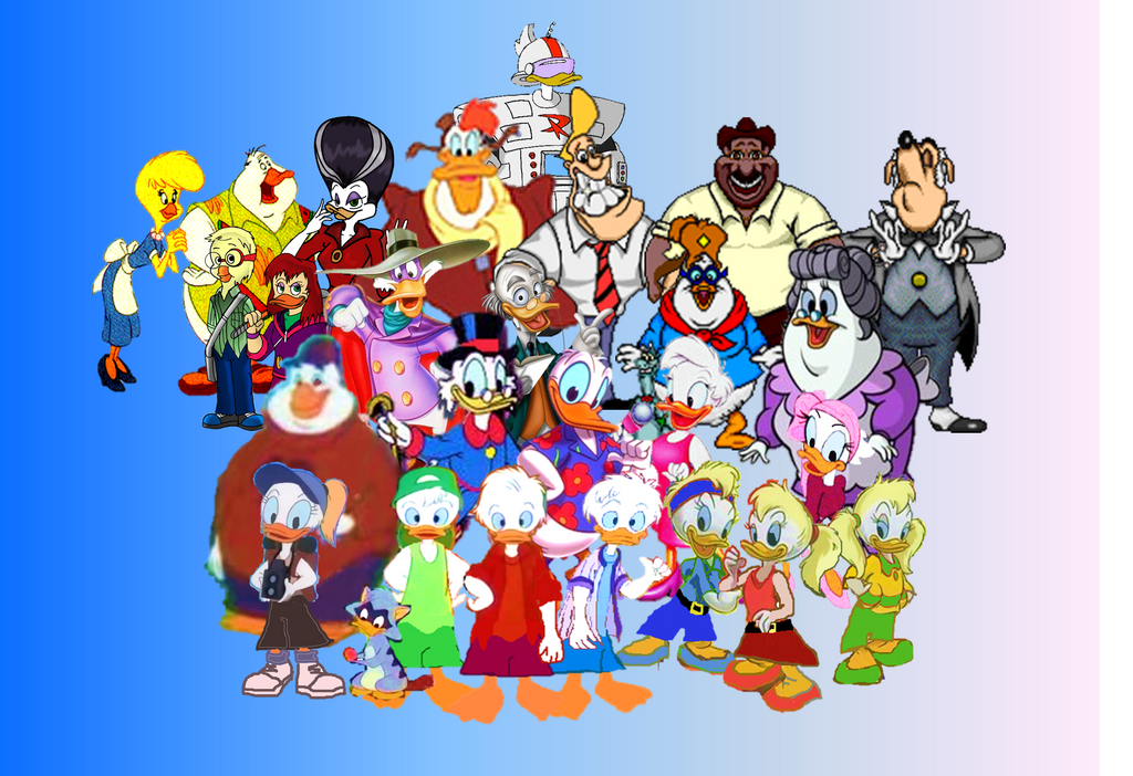 Duck Tales Darkwing Duck And Quack Pack Family By