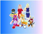Tails, Charmy, Wave, Sakura, Ino and Konohamaru