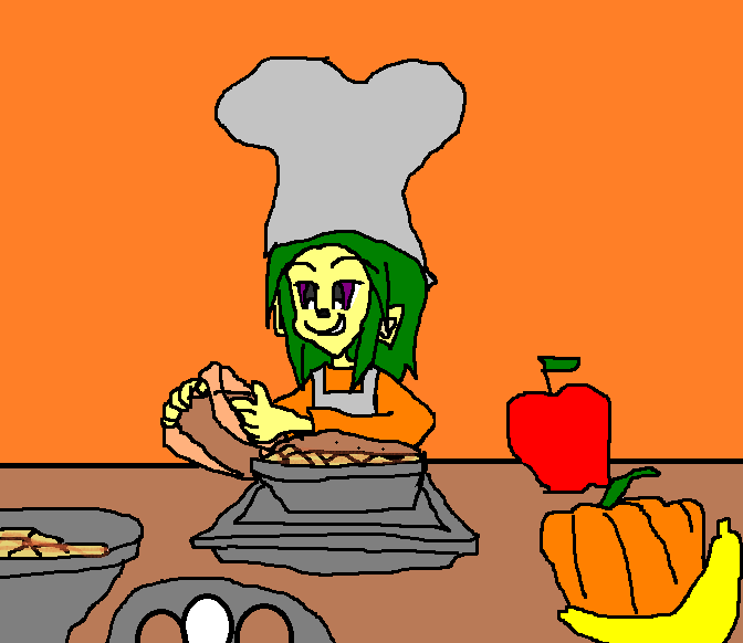 Leon Mike Making Apple Pie, Banana Pie and Pumpkin by 9029561