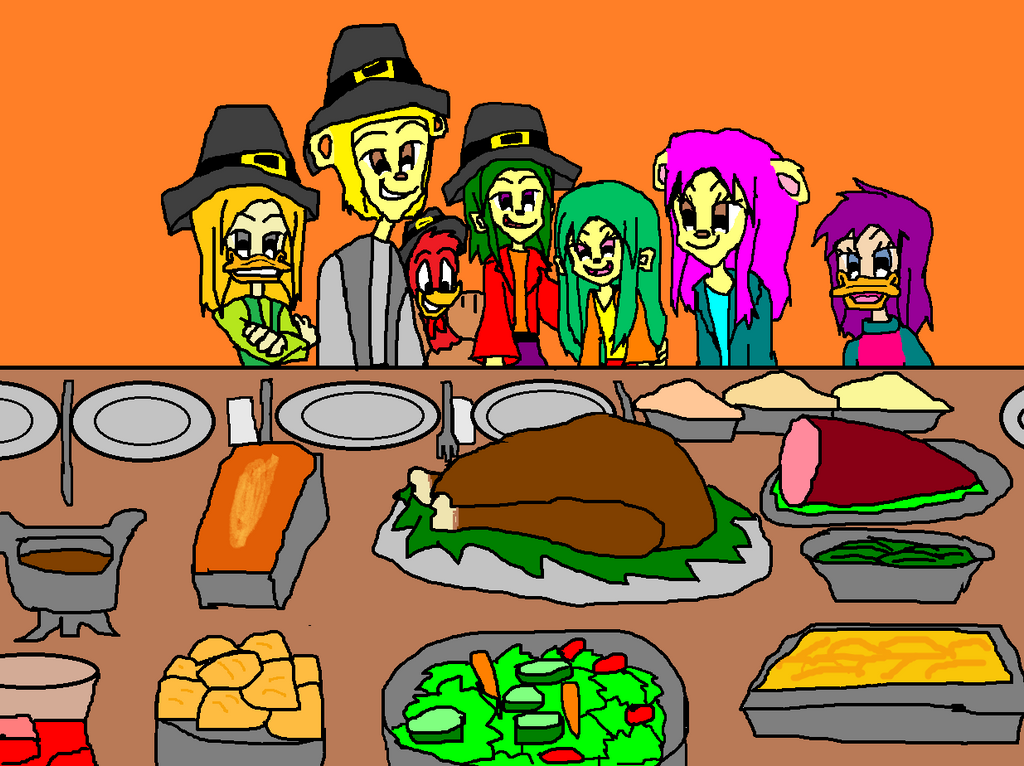 Leon and Lora and the Friends Happy Thanksgiving by 9029561