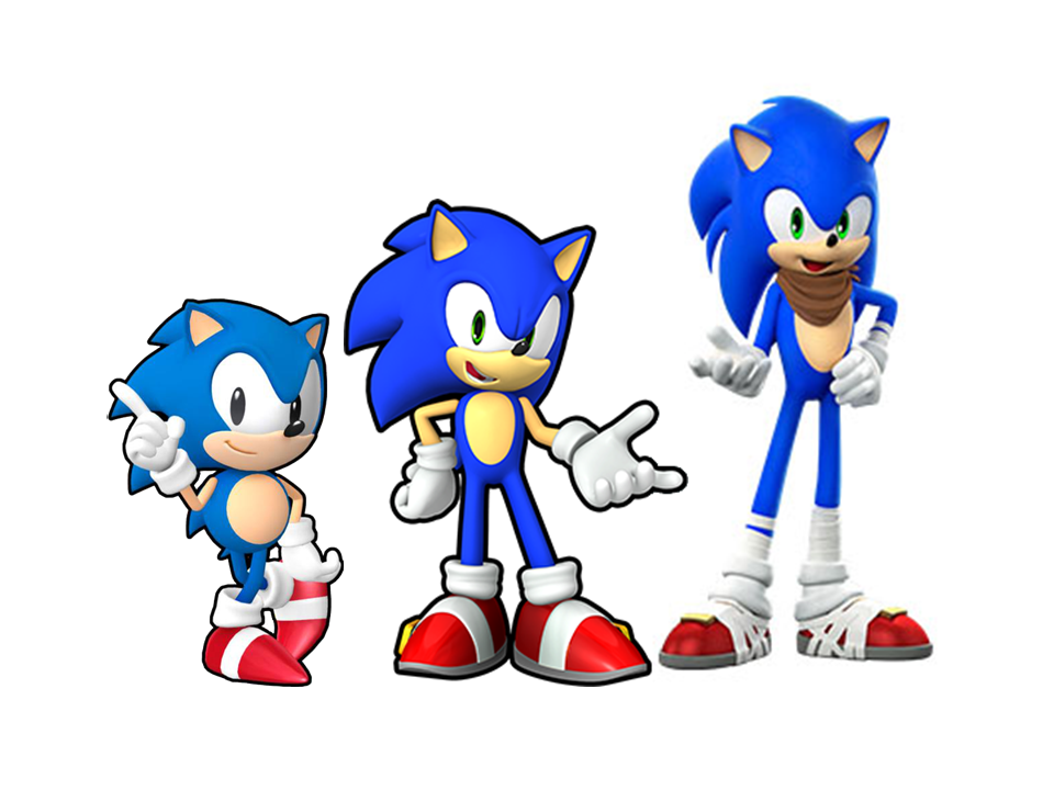 Sonic The Hedgehog Classic Modern And Boom By 9029561 On Deviantart