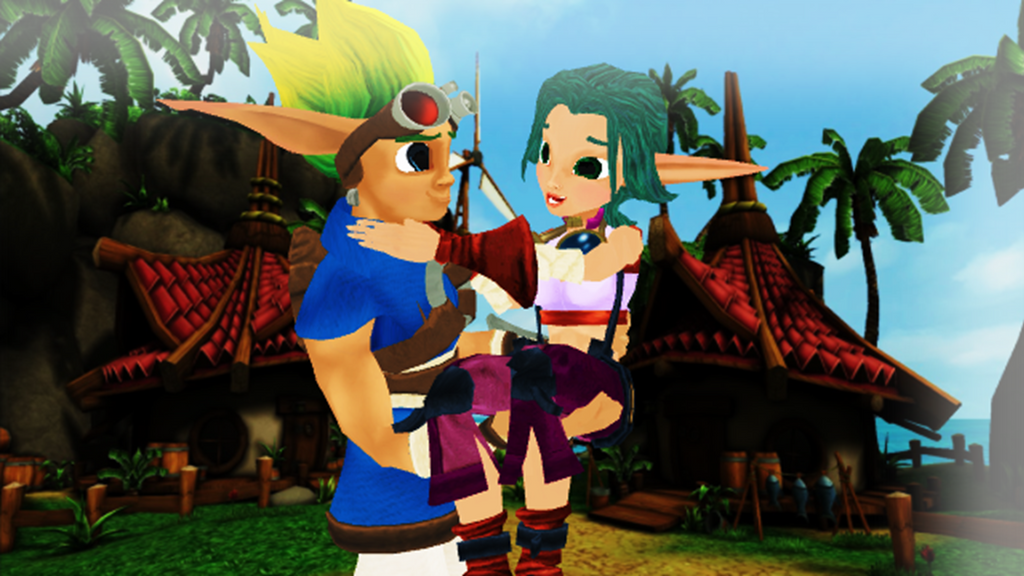 Jak And Daxter Wallpaper 12835803: Jak And Keira Hagai In Sandover Village By 9029561 On