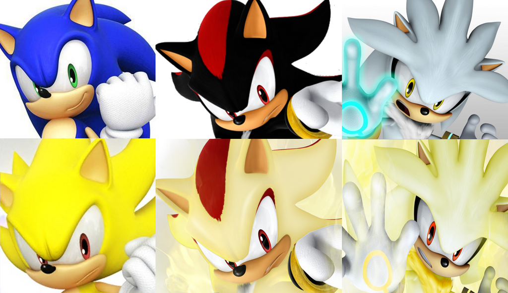 Sonic, Shadow, and Silver Super forms Same Pose by 9029561 ...