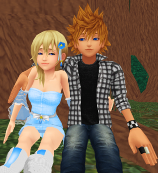 roxas and namine meet again ggx1