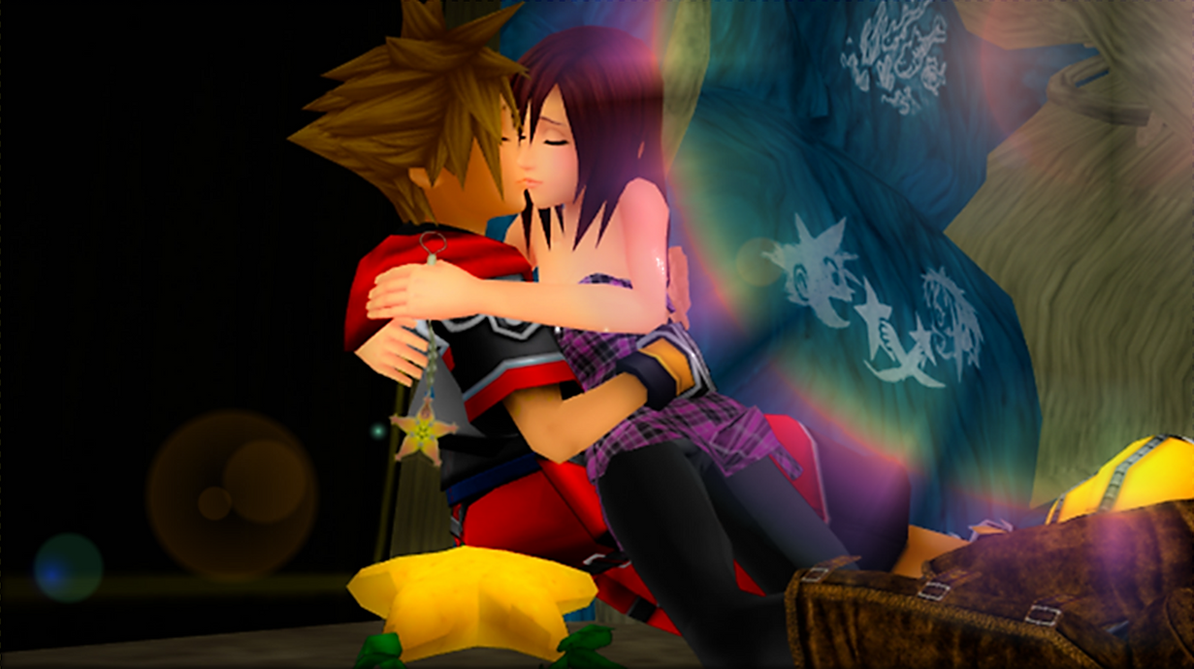 Kingdom hearts roxas and sora kiss