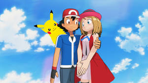 Ash Ketchum and Serena are Together with Pikachu