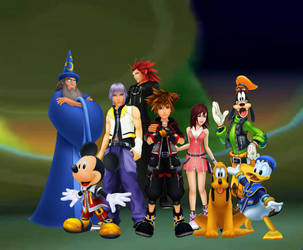 Kingdom Hearts 2.8 and III Friends are their power by 9029561