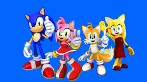 Sonic x Amy and Tails x Zooey Wallpaper