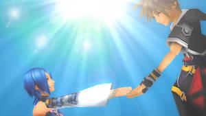Sora Save Aqua from KH 2.8 Final Chapter Prologue.