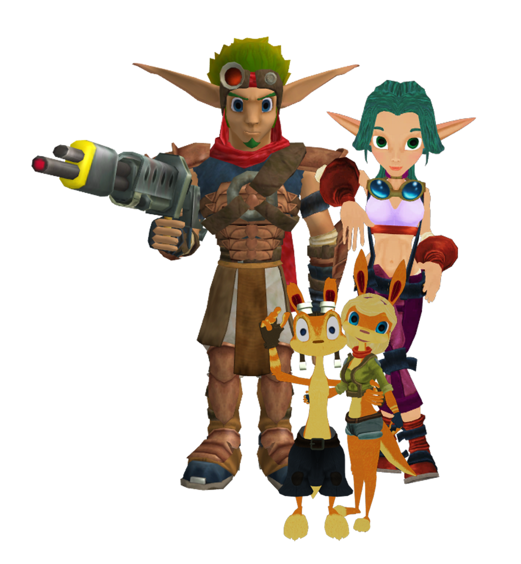 Jak 3 (XPS) Daxter And Keira Hagai, Tess (MMD) By 9029561