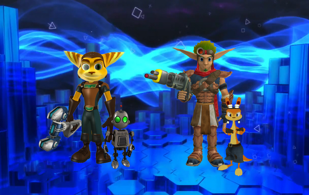 Jak And Daxter Wallpaper 12835797: Ratchet And Clank And Jak And Daxter PSASBR By 9029561 On