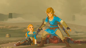 Link and Princess Zelda Breath of the Wild (2017)
