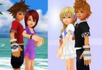 Young Themselves Sora x Kairi and Roxas x Namine