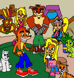 Crash Bandicoot Spend time with Brother and Sister