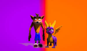 Crash and Spyro N Sane and Reignited Trilogy Pals