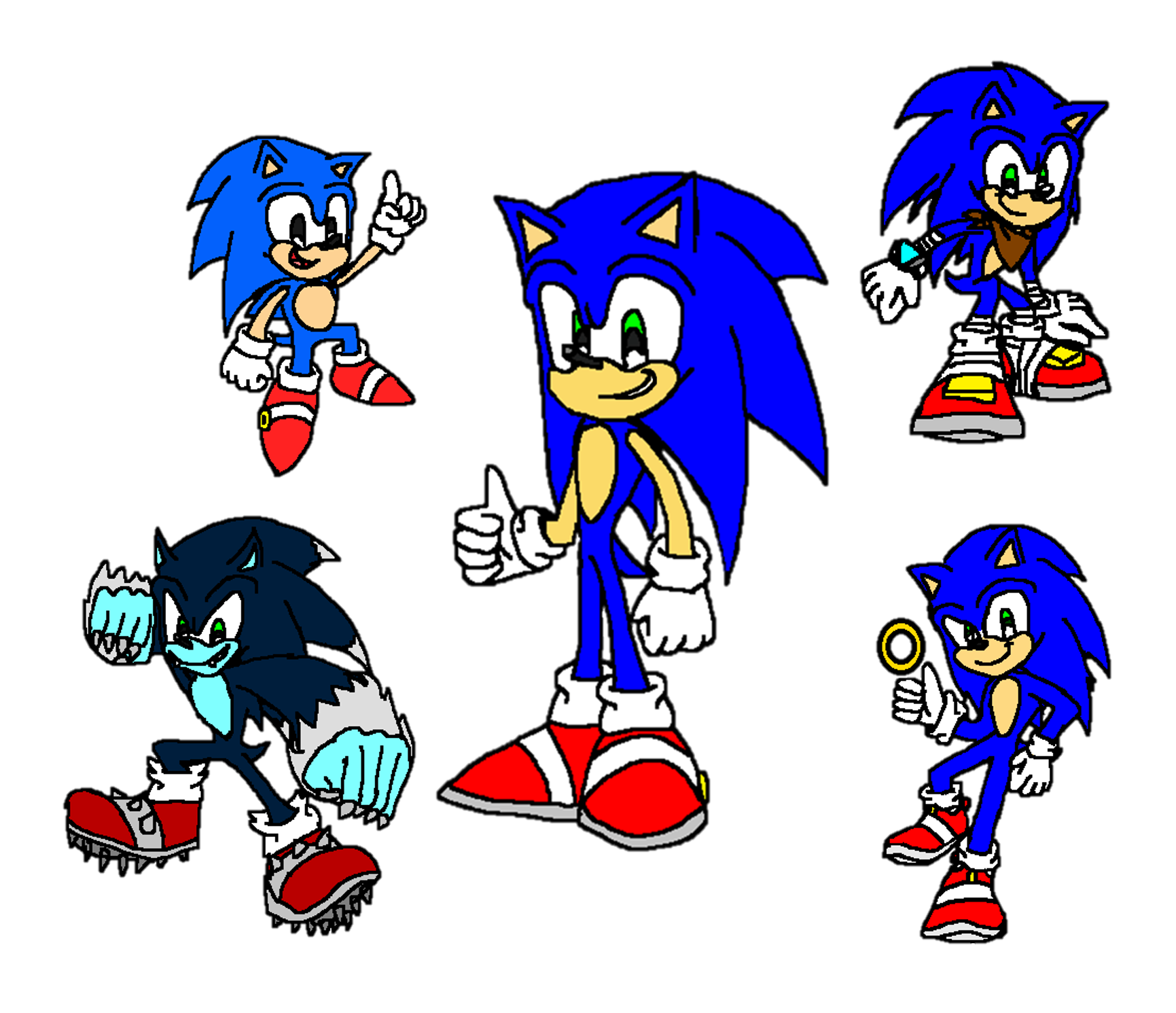 The Evolution Of Sonic The Hedgehog By 9029561 On Deviantart
