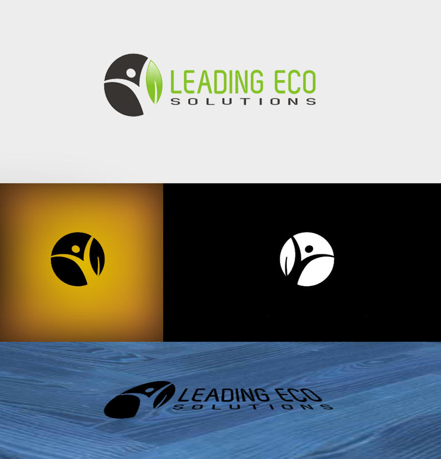 Leading Eco Solutions Logo Presentation By An Design On