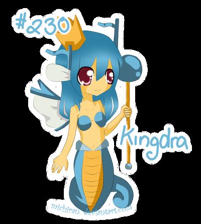 PKM - Kingdra Gijinka by michiran