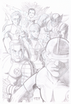 X-Men Pin Up Pencils