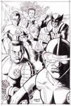 X-Men Pin up Inks Raw Version