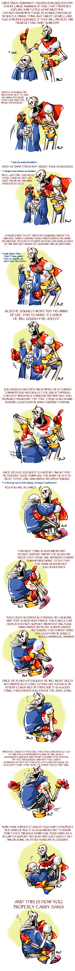 Undertale ask blog: A GUIDE TO CARRYING SANS